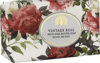 The English Soap Company, Vintage Wrapped Luxury Moisturising Shea Butter Hand Soap, Vintage Rose, 200g