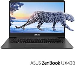 "ASUS ZenBook UX430UA-DH74 Ultra-Slim Laptop 14"" FHD wideview display 8th gen Intel Core i7 Processor, 16GB DDR3, 512GB SSD, Windows 10, Backlit keyboard, Quartz Grey (Renewed)"