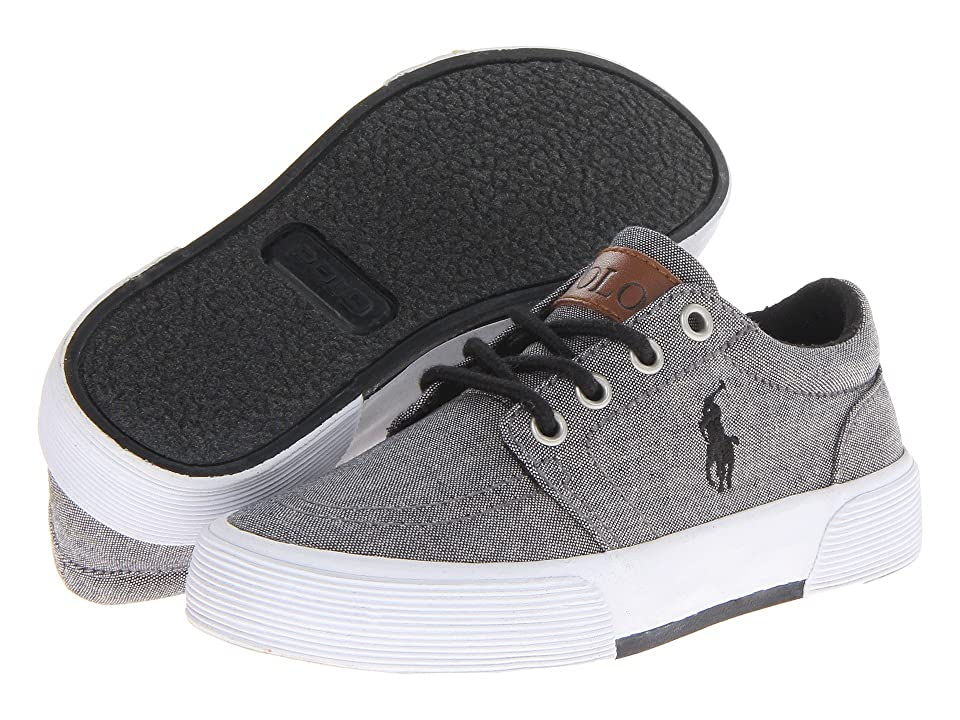 Polo Ralph Lauren Kids Faxon II (Little Kid) (Dark Grey Chambray) Boys Shoes