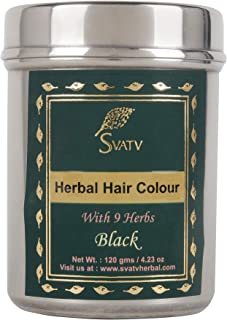 SVATV :: Henna Hair Color/Dye With 9 herbs - 120 Grams - Henna for Hair, Natural Hair Color - Chemical Free Hair Color (Bl...