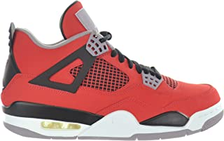 Air 4 Retro Toro Bravo Men's Shoes Fire Red/White-Black-Cement Grey