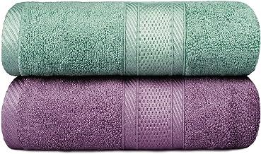 Yoofoss Bath Towels Luxurious Bamboo Bath Sheet 2 Pack 28x55 Inch Ultra Soft & Highly Absorbent Bathroom Towel