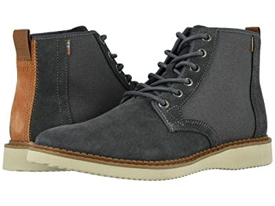 TOMS Porter Water-Resistant Boot (Water Resistant Forged Iron Suede/Rugged Canvas) Men