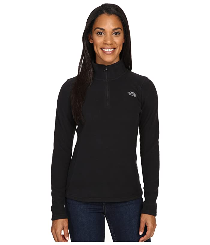 The North Face Glacier 1/4 Zip Fleece Top (TNF Black/Mid Grey) Women