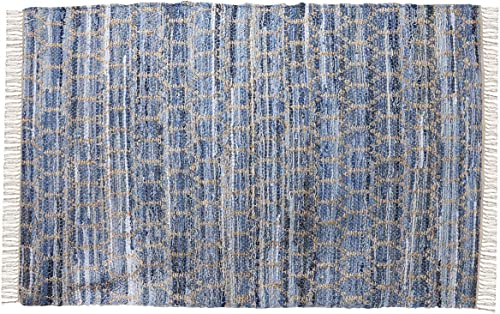 lowest ELK Lighting popular 969096 Pillow/Rug/Textile/Pouf, Crema, new arrival Soft Denim outlet online sale