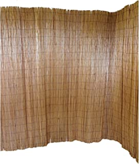 Master Garden Products Peeled Willow Screen Fence, 8 by 8-Feet, Light Mahogany Color