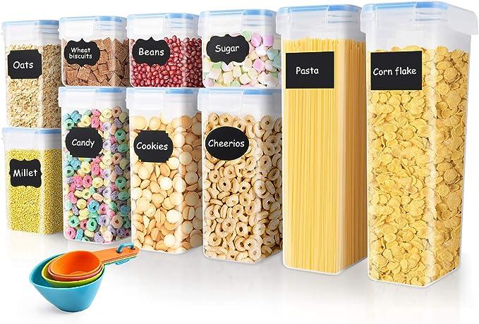 2175 opinioni per SOLEDI Contenitori Alimentari Set di 10 Contenitori Alimenti Set Cereali Senza