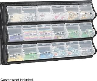 Safco Products 6112BL Panel Bins, 18 Pocket, Black