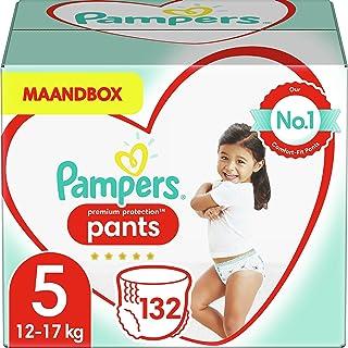Pampers Maat 5 Premium Protection Luierbroekjes, 132 Stuks (12-17 kg), MAANDBOX, Pampers N°1 Luierbroekjes voor comfort en...