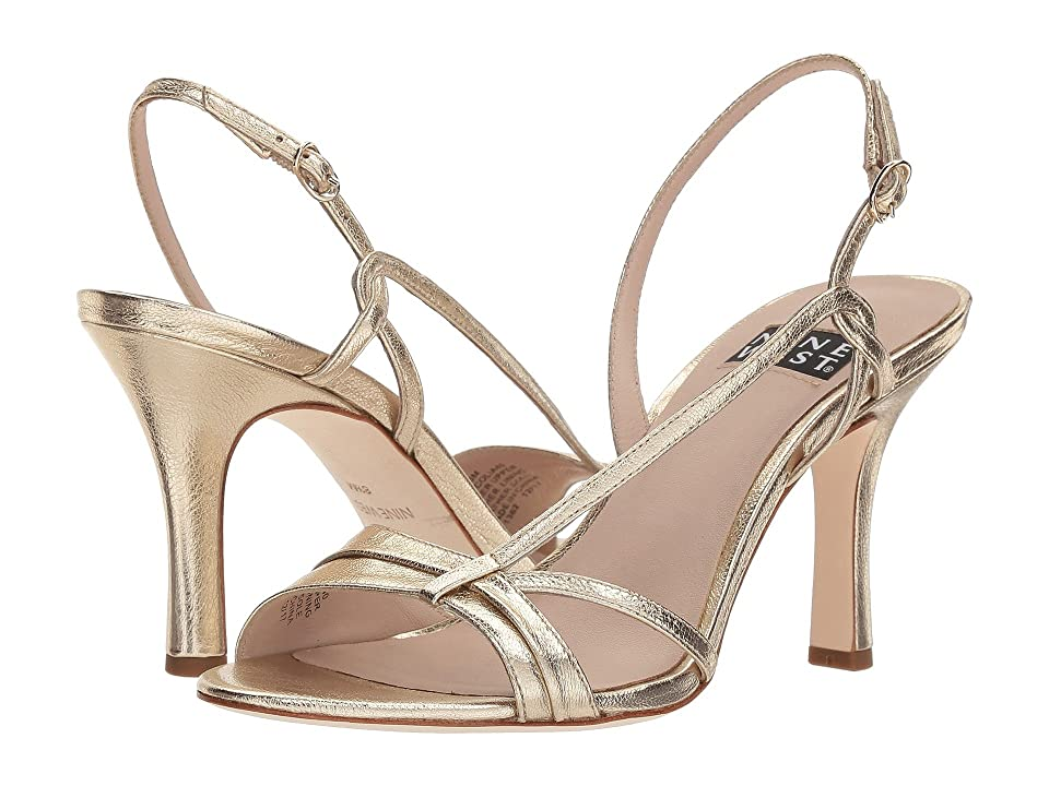 Nine West Accolia 40th Anniversary Heeled Sandal (Light Gold Metallic) Women