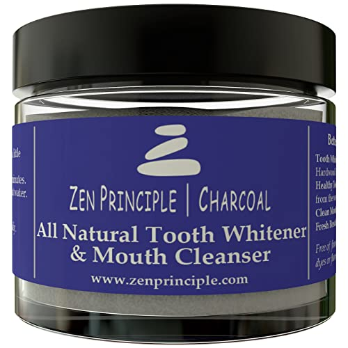 Natural Charcoal Teeth Whitening Powder. From USA Grown Hardwood Trees. Organic Mint Flavor,