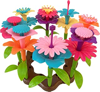 HIQTOYS Build a Bouquet Toy 86 Pieces | Eco Friendly Children's Toy | Stacking Developmental Toys for 3-Year olds | Made from 100% Recycled Plastic