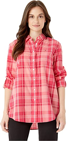 Plaid Shirt with Magnetic Buttons