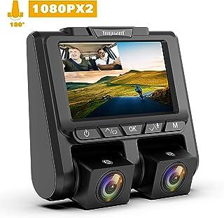 Cámara de Coche TOGUARD Dashcam Full HD 1080P Dual Lens Cámara para Coche G-Sensor Detección de Movimiento Grabación en Bucle WDR