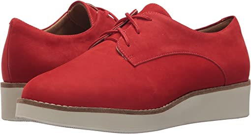 Red Smooth Nubuck Leather