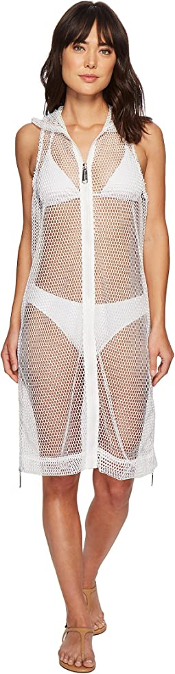 Steve Madden - Mesh On The Go Zipper Vest