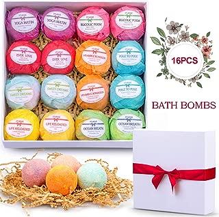Bath Bombs Set 16 Shea Butter Dry Skin Moisturize Lush Bath Bombs Gift Set Handmade Organic Spa Bubble Bath Birthday Mothers Day Christmas Gifts for Women/Wife/Girl/Her/Him/Girlfriend