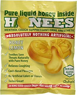 Honees Honey Lemon Cough Drops, 20 Count - 12 per case.
