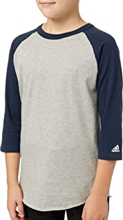 Boy's Triple Stripe ¾ Sleeve Heather Baseball Shirt
