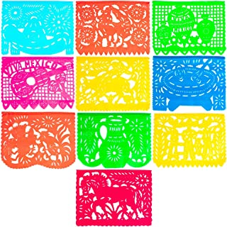Large Plastic Papel Picado Banner - 15 Feet Long - Two Designs to choose from (1 Pack, Mexico Querido)