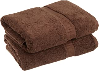 Superior 900 GSM Luxury Bathroom Towels, Made Long-Staple Combed Cotton, Set of 2 Hotel & Spa Quality Bath Towels - Chocolate, 30
