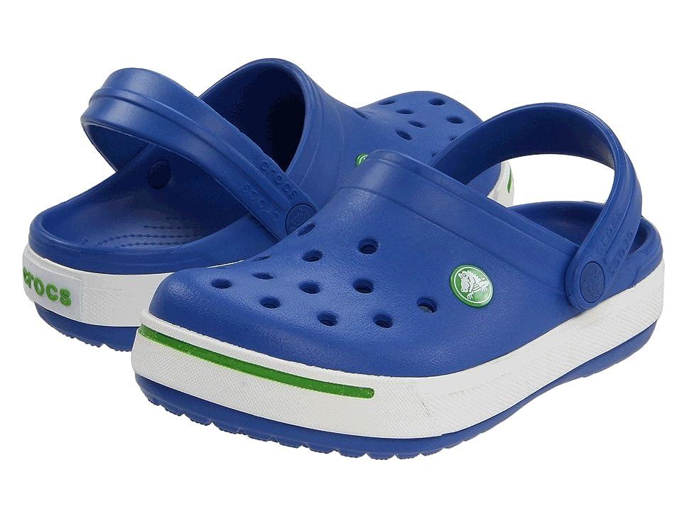 Crocs Kids Crocband II (Toddler/Little Kid) (Sea Blue/Lime) Kids Shoes