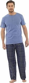 Mens Pyjamas Nightwear Top & Pants Trousers Warm Stripe Or Plain