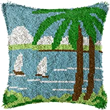 Lås krok mattor kudde DIY hem textil matta, virka kors stygn uppsättning, hantverk för barn och vuxna H