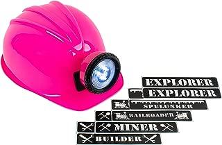 Squire Boone Village LED Light up Miner Helmet/Hard Hat & Labels (Miner, Explorer & More!)