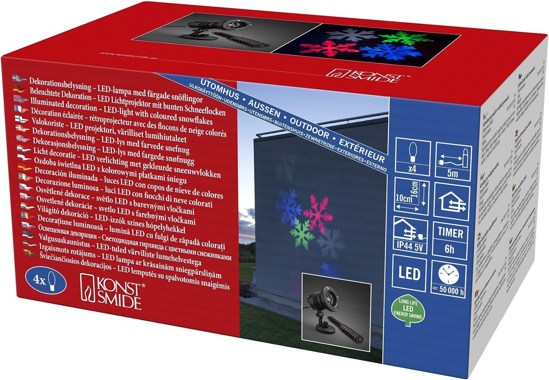 precio razonable Konstsmide LED Luz Luz Luz Proyector, plástico, Negro  artículos novedosos