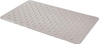 AmazonBasics Non-Slip Bath Mat with Textured Waves - Light Grey, 27.5 x 15.7 Inch