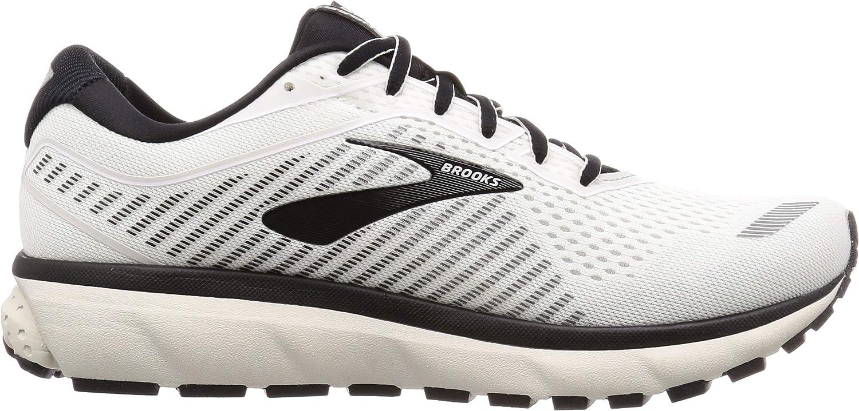 Brooks Ghost 12, Chaussures de Running Homme Bianco Grigio E Nero