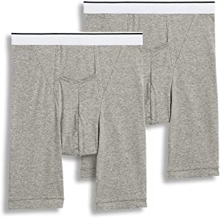 Jockey Men's Underwear Pouch Midway Brief - 2 Pack, Grey Heather, L