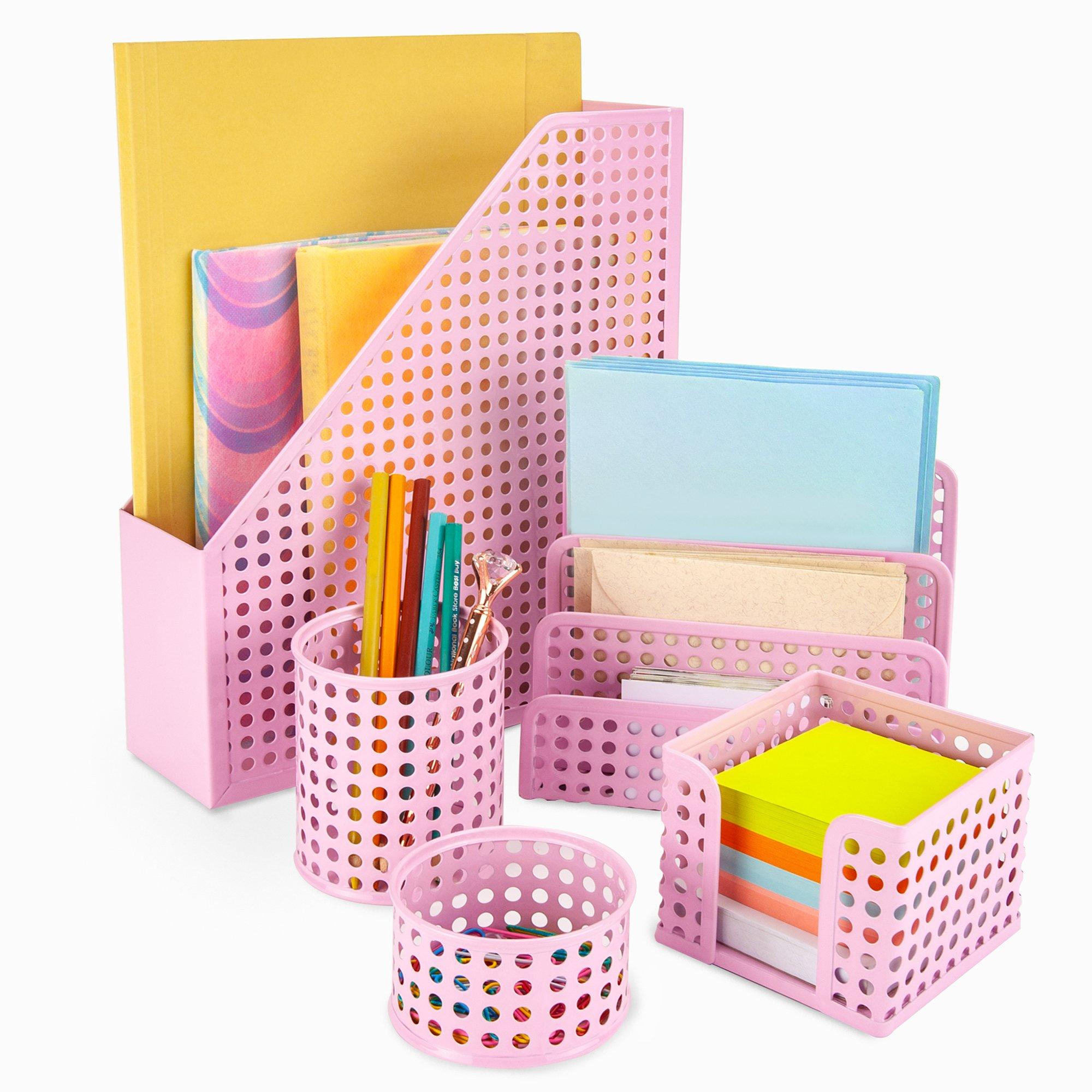 Generic Office Desk Tidy 38 Piece Set Letter Sorter Rack,Makeup