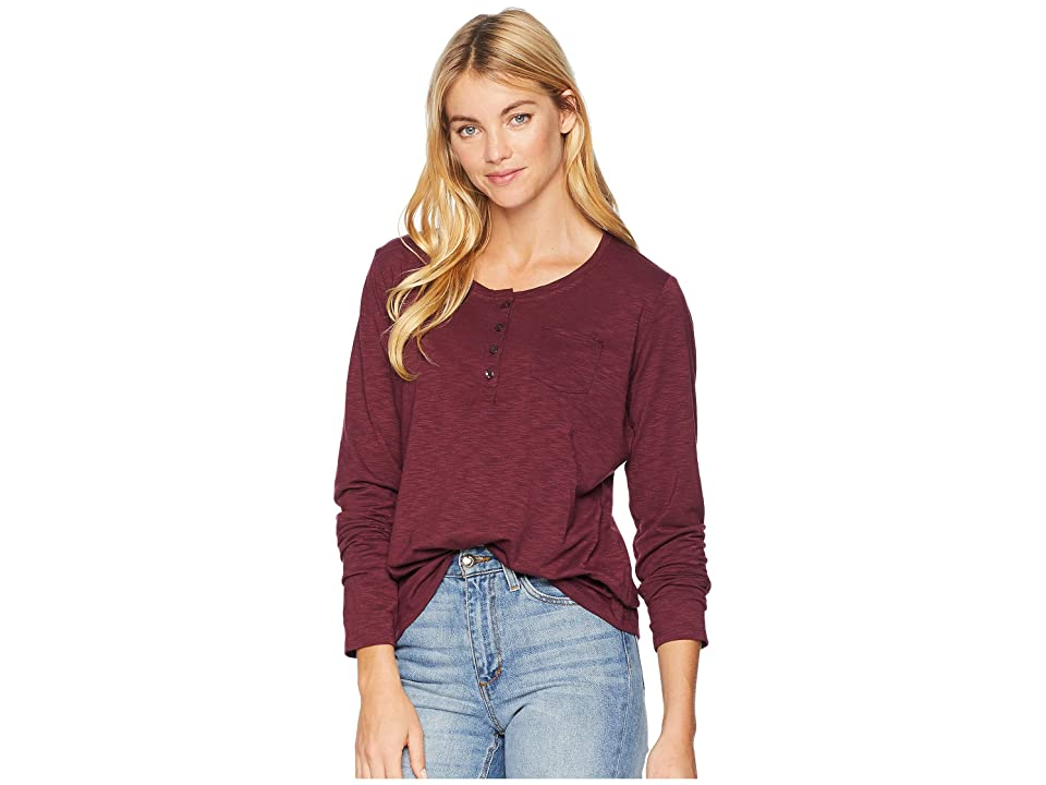 Jack Wolfskin Winter Travel Henley (Burgundy) Women