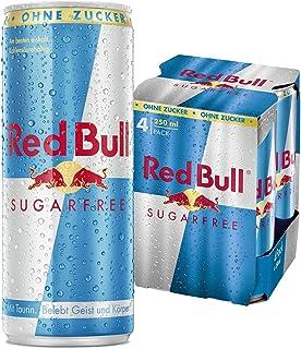 Red Bull Sugarfree Energy Drink, 4er Pack, EINWEG 4 x 250 ml Dosen