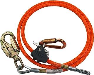 کیت کابل فلزی خط ProClimb Wire Wire (5/8 اینچ) - تنظیم کننده چنگ زدن به طناب بهتر ، قابل تنظیم تسمه طناب ، کم کشش ، مقاومت در برابر برش - برای محافظت در برابر پاییز ، اربابان ، کوهنوردان درخت (نارنجی - 8 فوت)