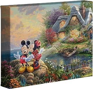 Thomas Kinkade Studios Disney's Mickey and Minnie Sweetheart Cove 8 x 10 Gallery Wrapped Canvas