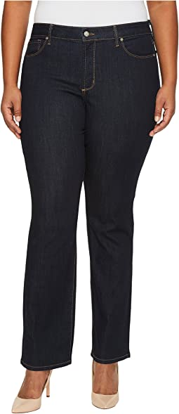 NYDJ Plus Size Plus Size Marilyn Straight Jeans in Larchmont Wash