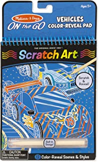 Melissa & Doug On the Go Scratch Art Color-Reveal Pad - Vehicles (Great Gift for Girls and Boys - Best for 5, 6, 7, 8, 9 Year Olds and Up)