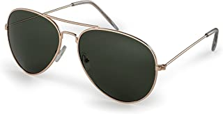 Stylle Classic Aviator Pilot Flat Lens Sunglasses For Men and Women with Protective Bag,..