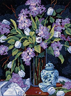 Dimensions Tulips and Lilacs Needlepoint Kit