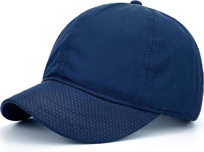 Rayna Fashion Structured Short Bill Hat Quick Dry Short Brim Hat Trucker Baseball Dad Cap