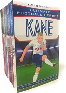 Ultimate Football Heroes Collection 10 Books Set (Kane, Neymar, Ronaldo, Sanchez, Hazard, Lukaku, Messi, Bale, Aguero, Coutinho)