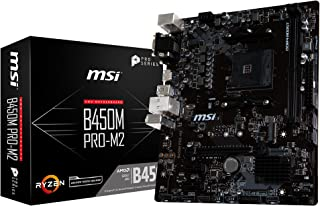 MSI B450M Pro-M2 - Placa Base (AM4, AMD B450, 1 x PCI-E 3.0 x16, DDR4 3466+ MHz, HMDI, 4 x SATA 6Gb/s) [Modelo Antiguo]