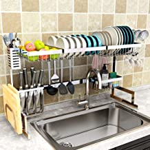 """Dish Drying Rack Over Sink(24""""-40""""), Adjustable Large Dish Drainer for Kitchen Storage Counter Organization, 2 Tier Stainl..."""