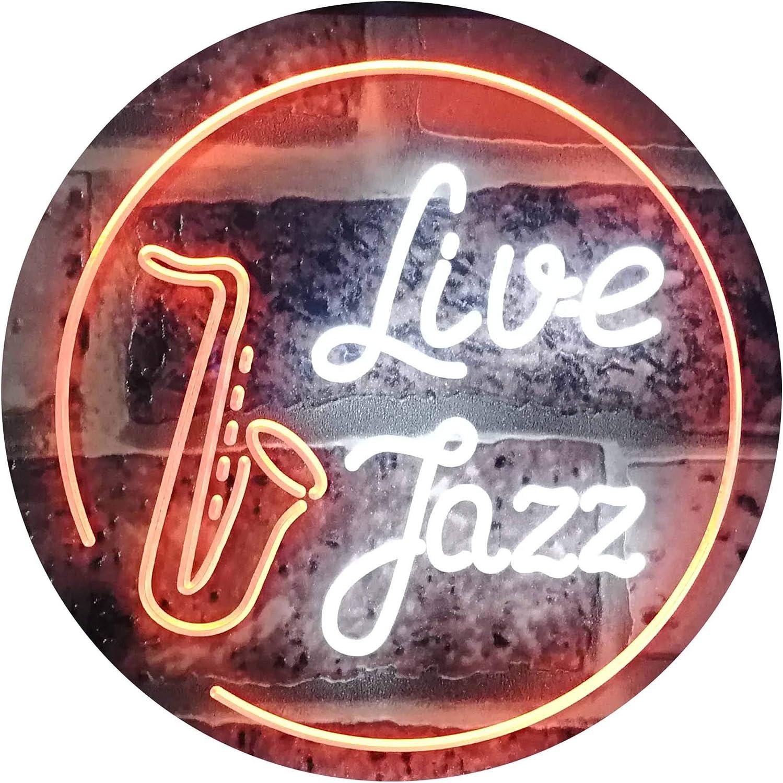 ADVPRO Live Jazz Music Room Dual Farbe LED Barlicht Neonlicht Lichtwerbung Neon Sign Weiß & Orange 16  x 12  st6s43-i2468-wo