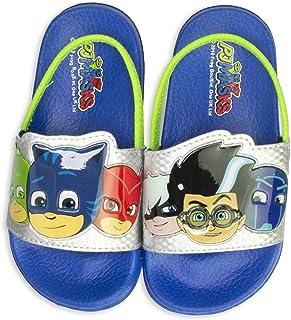 PJ Masks Toddler Sandals,Slip on Slides with Backstrap Catboy Gekko Owlette Romeo,Mismatch Heroes Vs Villains,Toddler Size 6/7 to Kids Size 10/11