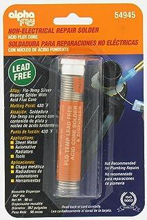 Alpha Fry AM54945 Cookson Elect Flo-Temp Lead Free Acid Core Solder and Dispenser