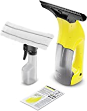 Karcher WV1 Plus 3.7 V Window Vacuum Cleaner with Spray Bottle, Yellow